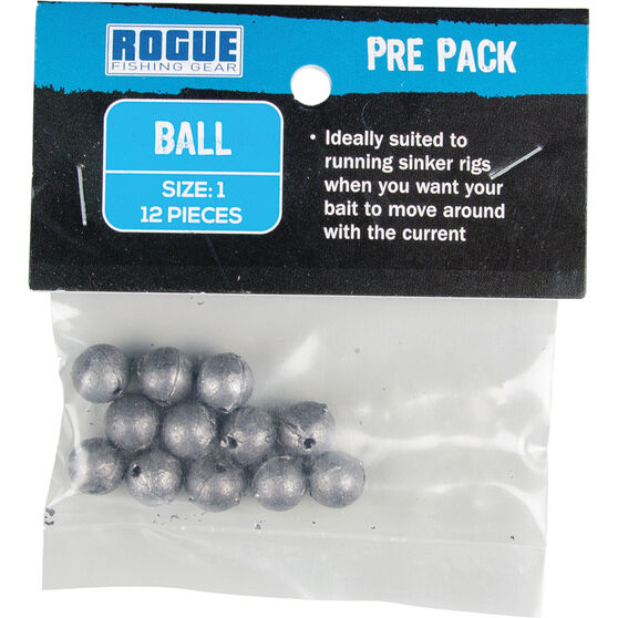 Rogue PP Ball Sinker Size 1 12 Pack, , bcf_hi-res