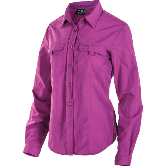 Explore 360 Women's Vented Long Sleeve Fishing Shirt Holly 14, Holly, bcf_hi-res