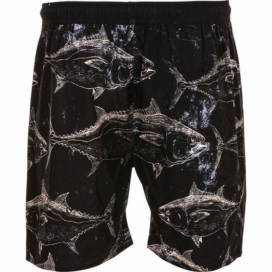 Tide Apparel Men's Tuna Boardshorts, Black, bcf_hi-res