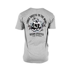 Tide Apparel Mens Threesheets Short Sleeve Tee Grey S, Grey, bcf_hi-res