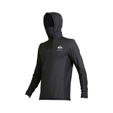Quiksilver Waterman Men's Angler Hooded Long Sleeve Rash Vest Black M, Black, bcf_hi-res