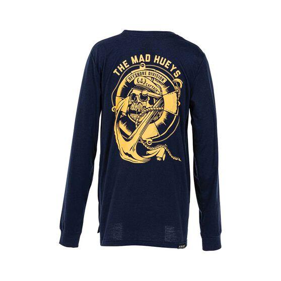 The Mad Hueys Youth Sinking Captain Long Sleeve Tee, Navy, bcf_hi-res