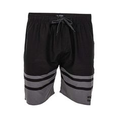 Tide Apparel Men's Fade Boardies Black / Grey S, Black / Grey, bcf_hi-res