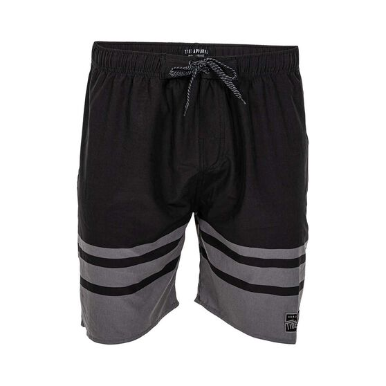 Tide Apparel Men's Fade Boardies, Black / Grey, bcf_hi-res