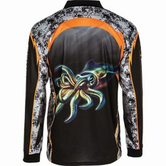 Savage Men's Squid Sublimated Polo Black M, Black, bcf_hi-res