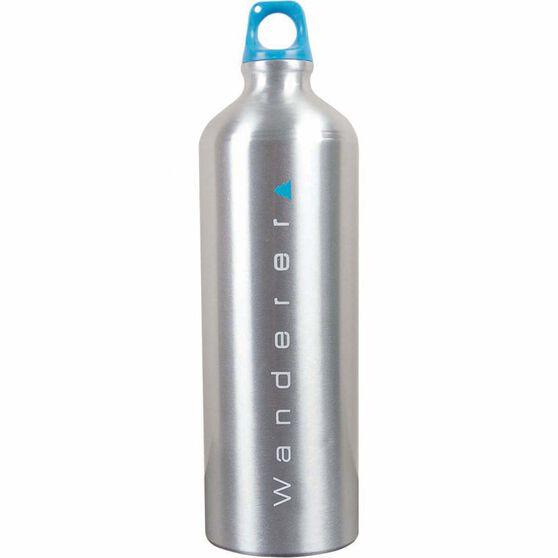 Wanderer Aluminium Drink Bottle 1L Raw, Raw, bcf_hi-res