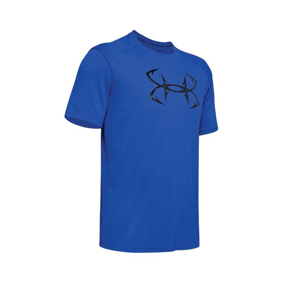 Under Armour Men's Iso-Chill Fish Hook Short Sleeve Tee Versa Blue / Black XL, Versa Blue / Black, bcf_hi-res