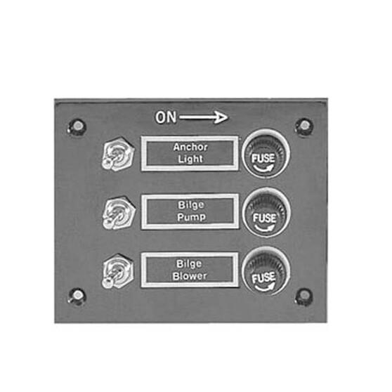 Blueline Switch Panel 3 Gang Bakelite, , bcf_hi-res