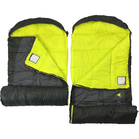 Wanderer Scorch Duo Hooded Sleeping Bag, , bcf_hi-res