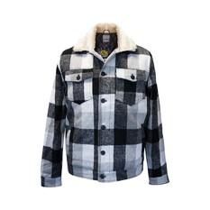 Tradie Men's Lumber Jacket Monotone Check S, Monotone Check, bcf_hi-res