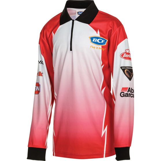 BCF Kids' Corporate Sublimated Polo Red 14, Red, bcf_hi-res