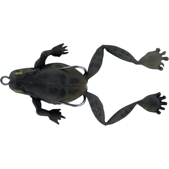Chasebaits Bobbin Frog Soft Plastic Lure 40mm Black Night, Black Night, bcf_hi-res