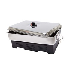 Wanderer Deluxe Stainless Steel Two Burner Fish Smoker, , bcf_hi-res