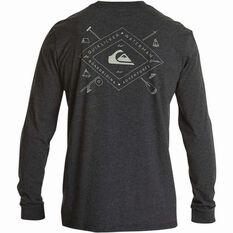 Quiksilver Men's Sandhill Peaks Long Sleeve Tee Charcoal S, Charcoal, bcf_hi-res