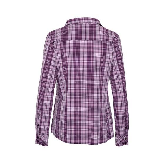Macpac Women's Eclipse Long Sleeve Shirt, Blackberry / Wine, bcf_hi-res