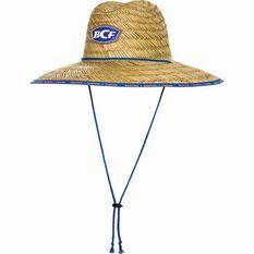 BCF Straw Hat Blue 52cm, Blue, bcf_hi-res