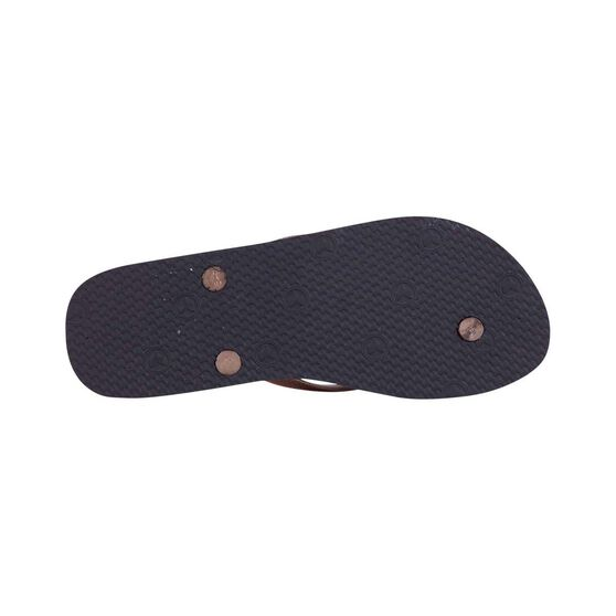 KUSTOM Women's Basic Plugger Thongs, Black / Rose Gold, bcf_hi-res