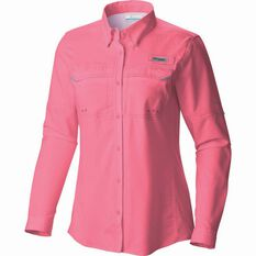Columbia Women's Low Drag Long Sleeve Shirt Lollipop XS, Lollipop, bcf_hi-res