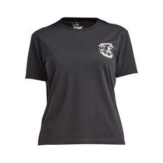 The Mad Hueys Women's Tropical Babe Short Sleeve UV Tee Black XS, Black, bcf_hi-res