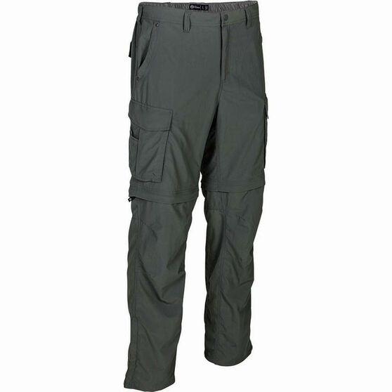 Outdoor Expedition Men's Zip Off Hike Pants, Gunmetal, bcf_hi-res