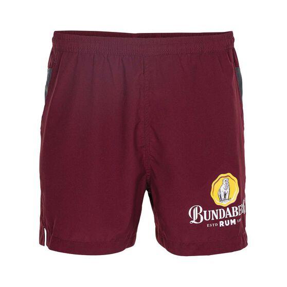 Bundaberg Rum Men's Casual Short, Maroon, bcf_hi-res