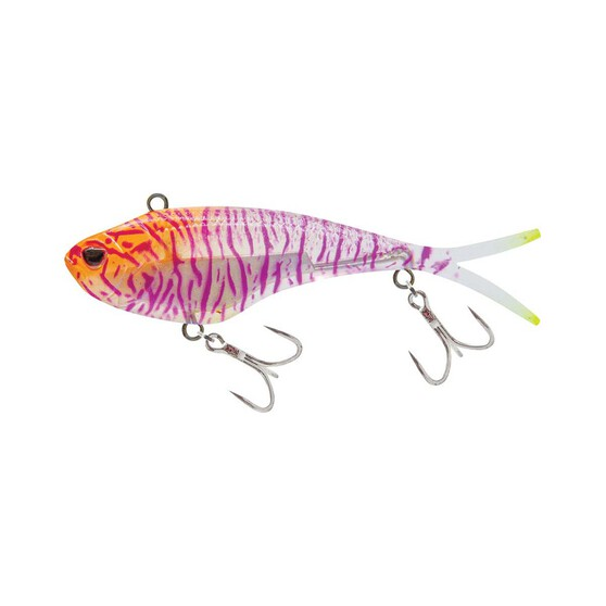 Nomad Vertrex Max Soft Vibe Lure 95mm Holographic Purple Shrimp, Holographic Purple Shrimp, bcf_hi-res