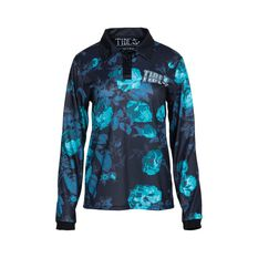 Tide Apparel Women's Roses Fishing Jersey Multi 8, Multi, bcf_hi-res