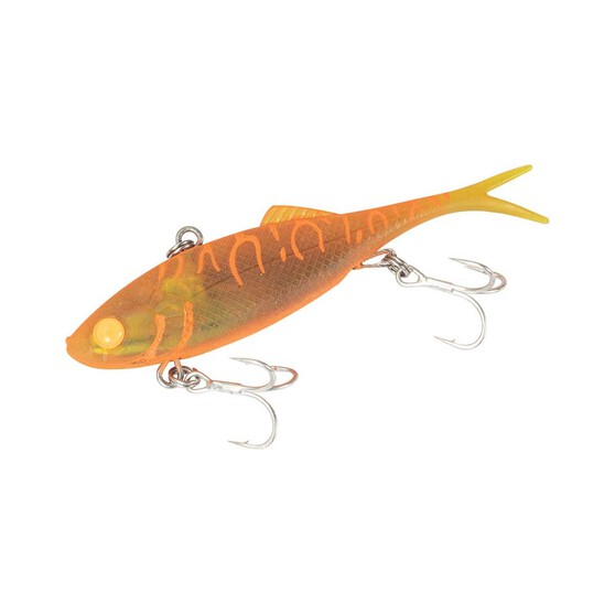 Berkley Shimma Shad Fork Tail Vibe Soft Plastic Lure 100mm Orange Crush 100mm, Orange Crush, bcf_hi-res