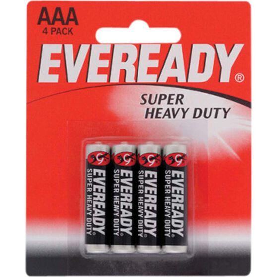 Eveready Super Heavy Duty AAA Alkaline Batteries - 4 Pack, , bcf_hi-res