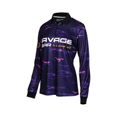 Savage Gear Womens Squad Camo Sublimated Polo Purple 8, Purple, bcf_hi-res