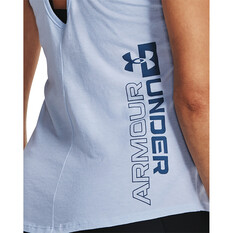 Under Armour Women's Camo Fill Tank, Isotope Blue / Mineral Blue, bcf_hi-res