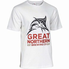 The Great Northern Brewing Co. Men's Logo Tee White S, White, bcf_hi-res