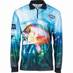 BCF Mangrove Jack Men's Sublimated Polo Green S, Green, bcf_hi-res