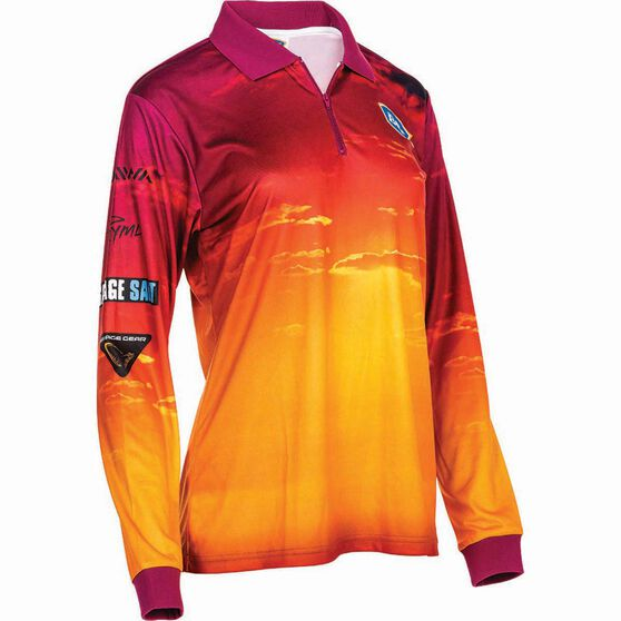 BCF Women's Sunset Sublimated Polo, Pink, bcf_hi-res