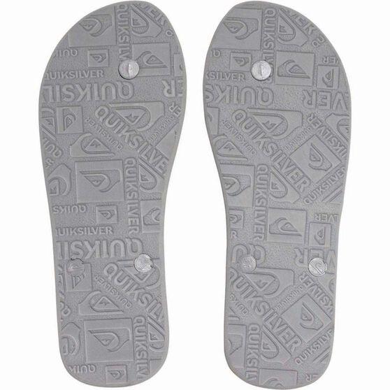 Quiksilver Men's Molokai Thongs, Grey, bcf_hi-res