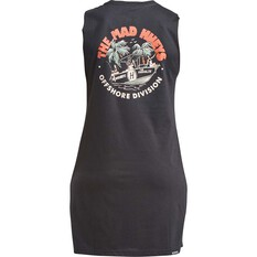 The Mad Hueys Women's Babes on Vacation UV Tee Dress Black XS, Black, bcf_hi-res