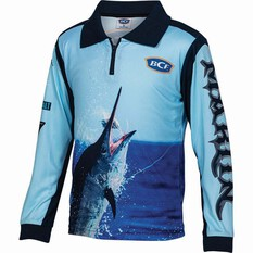 BCF Kids' Marlin 19 Sublimated Polo Navy 4, Navy, bcf_hi-res
