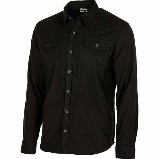 Outdoor Expedition Men's Flannel Long Sleeve Shirt, Black, bcf_hi-res