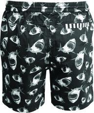 Tradie Men's Sharkmania Walk Shorts, Black, bcf_hi-res