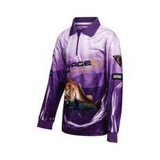 Savage Gear Youth Snapper Sublimated Polo Purple 8, Purple, bcf_hi-res