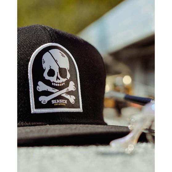 Tide Apparel Mens Bones Snapback Cap Black OSFM, Black, bcf_hi-res