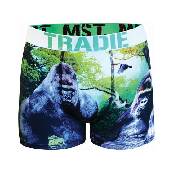 Tradie Men's Gary Gorilla Trunks, Print, bcf_hi-res