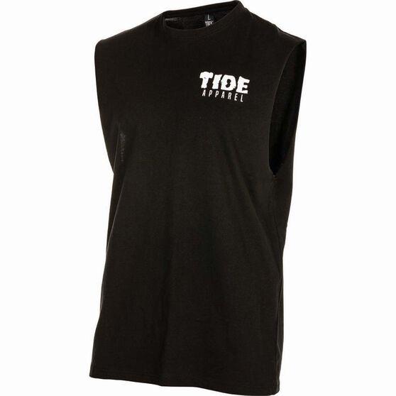 Tide Apparel Men's Savage Tank Top, Black, bcf_hi-res
