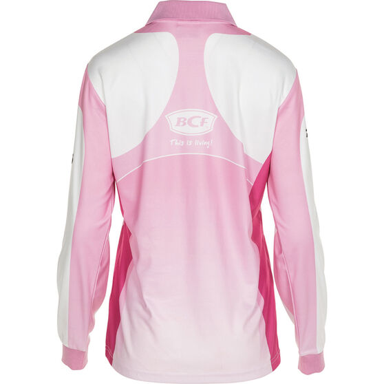 BCF Women's Corporate Sublimated Polo Pink 14, Pink, bcf_hi-res