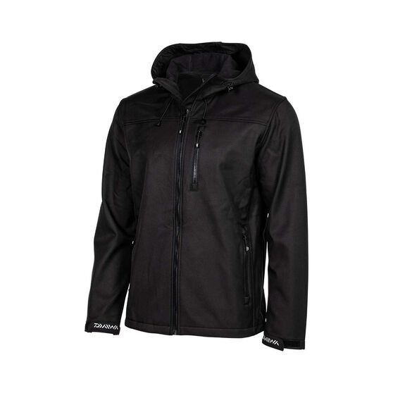 Daiwa Trekker  Softshell Jacket - Mens, Black, S, Black, bcf_hi-res