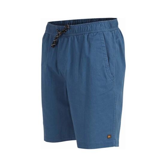 Quiksilver Waterman Men's Cabo Shore Cotton Shorts, Ensign Blue, bcf_hi-res