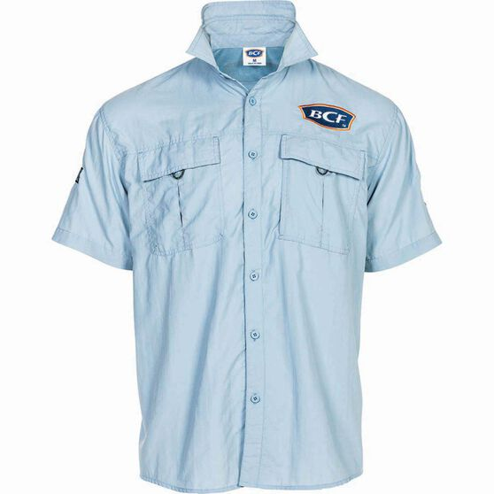 BCF Short Sleeve Fishing Shirt, Spray, bcf_hi-res