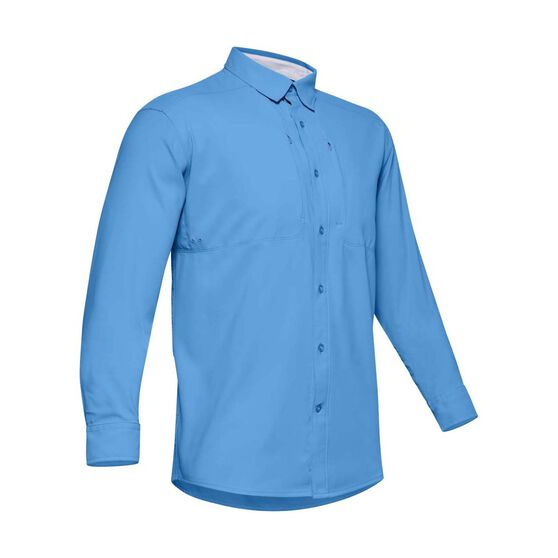 Under Armour Men's Tide Chaser 2.0 Long Sleeve Shirts, Carolina Blue / Mod Grey, bcf_hi-res