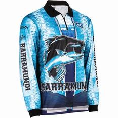 BCF Men's Barra Graphic Sublimated Polo Blue L, Blue, bcf_hi-res