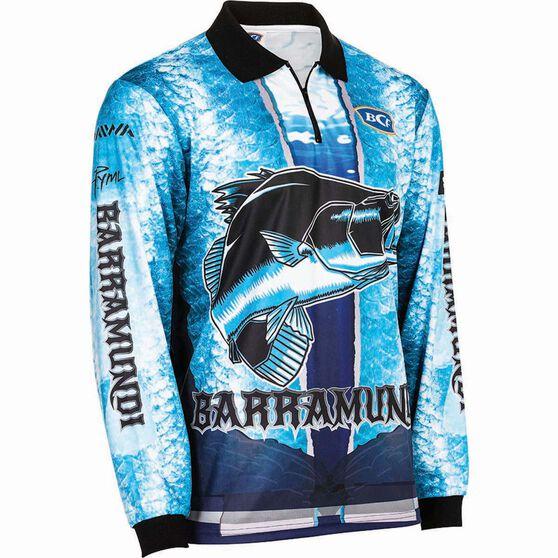 BCF Men's Barra Graphic Sublimated Polo Blue XL, Blue, bcf_hi-res
